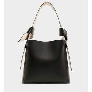 Zara knotted bucket bag